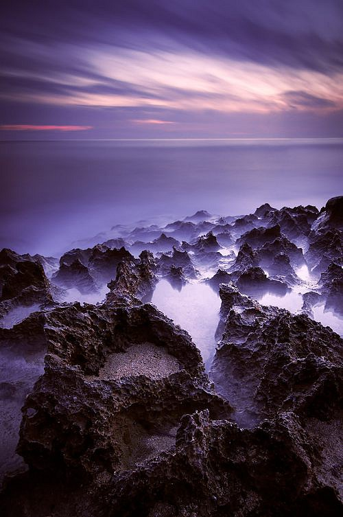 A long exposure seascape in Apulia, Italy
