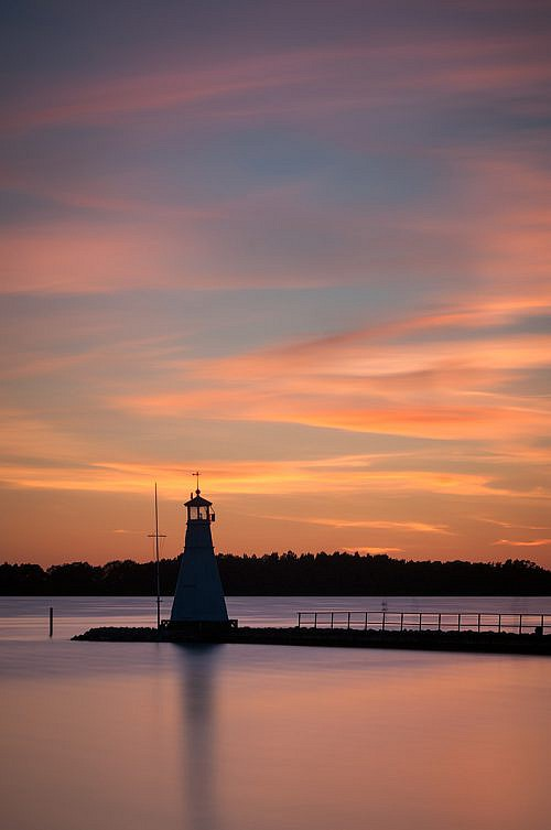 Sweden sunset lighthouse - Long exposure